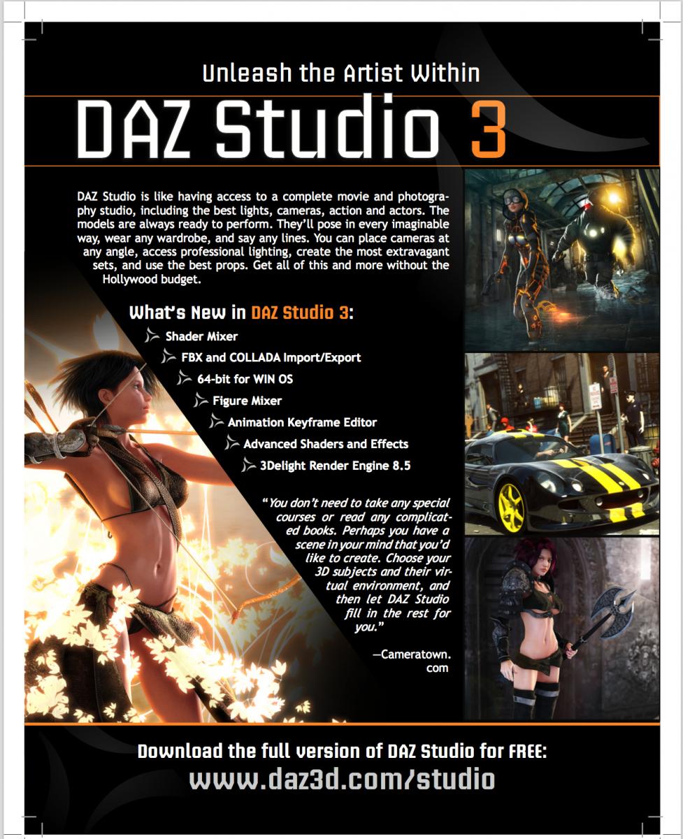 DAZ Studio 3 front