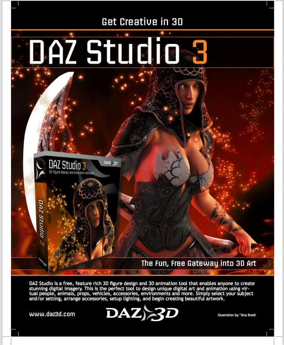 Daz Studio Promotional Flyer Front