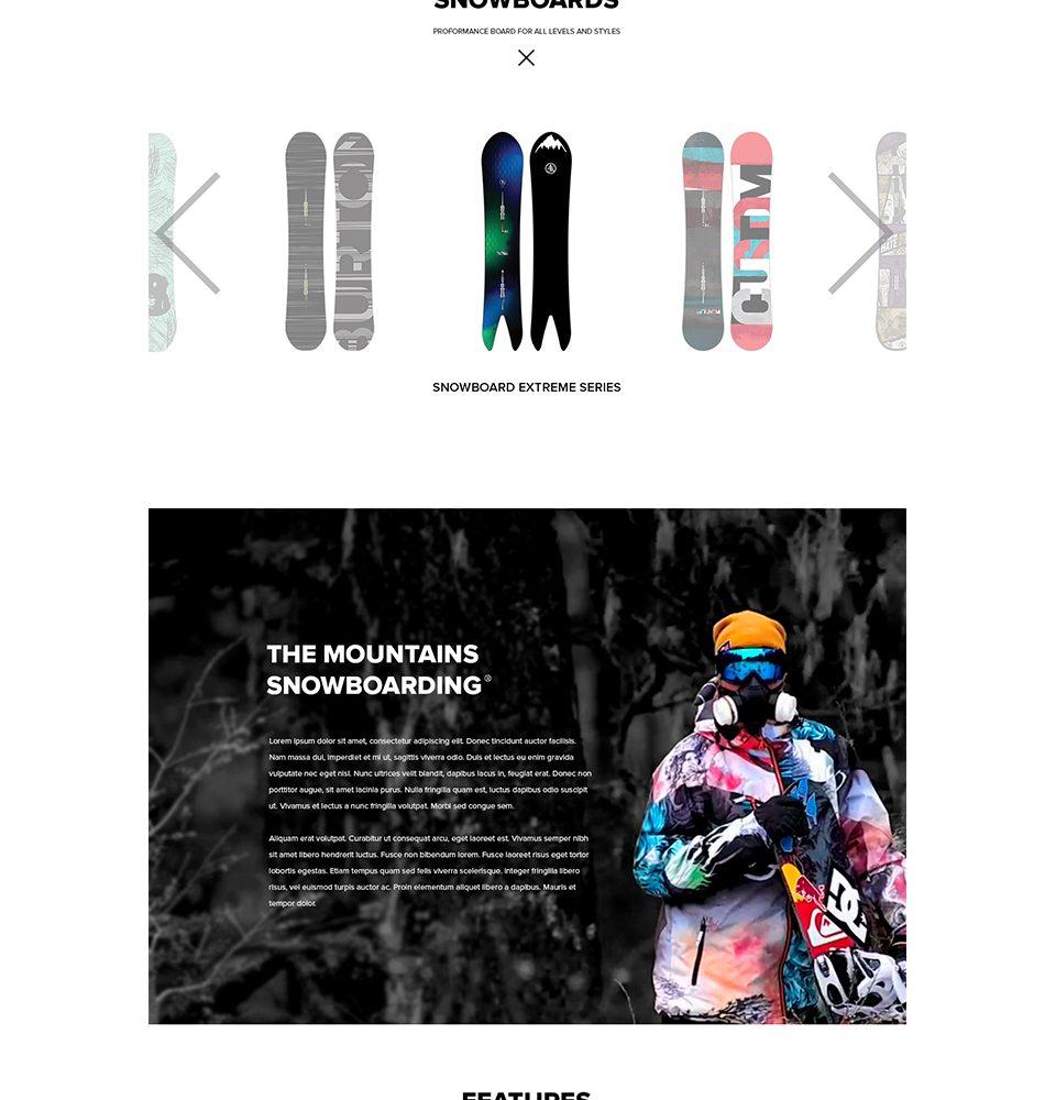 snowboarding site
