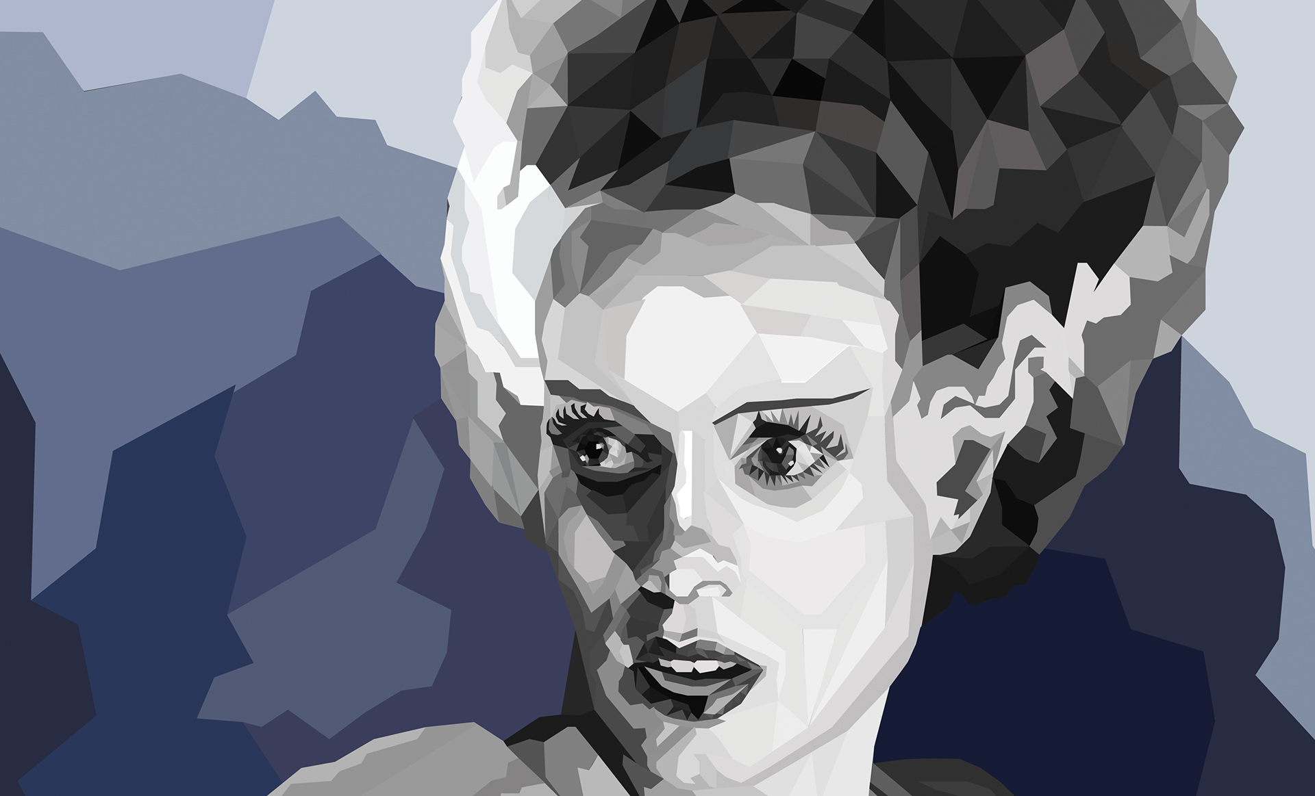 digital low poly illustration