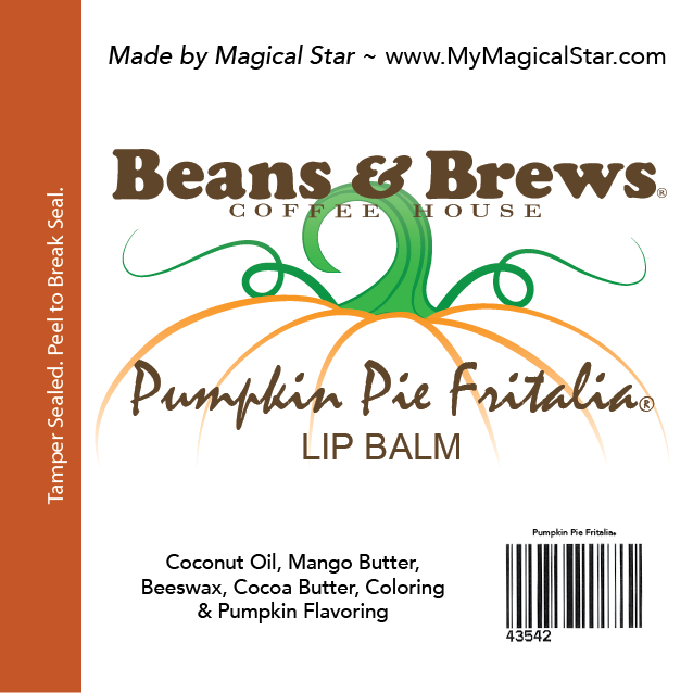 Beans & Brews Pumpkin Pie Label