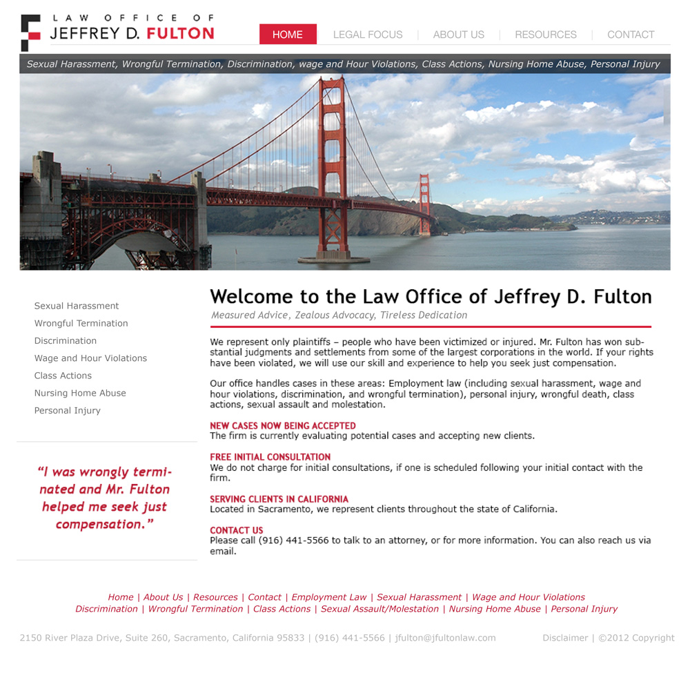 J Fulton Law Office Website