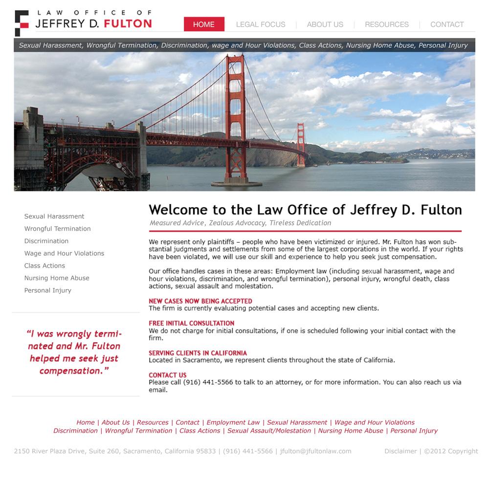 J Fulton Law Office Website