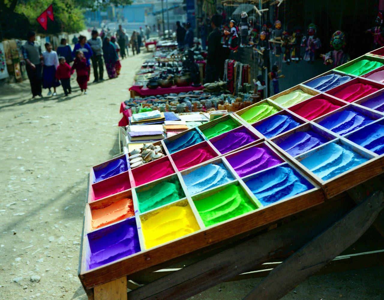 Nepal children and pigment