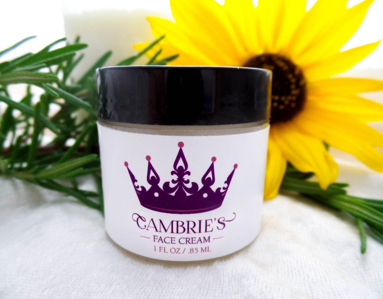 Cambries Face Cream Label