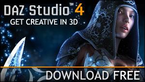 DAZ Studio Web Banner
