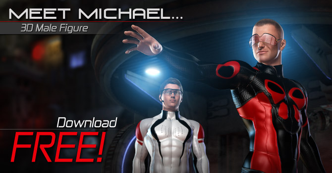 Michael Web Banner Daz 3D