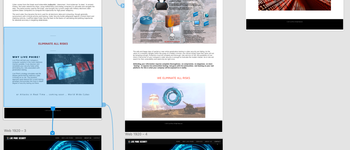 LivePhire webpage